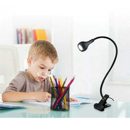 Bedside Reading Table Australia - New LED Desk Lamps With Clip USB Power Table Night Lamp Students Bedside Led Book Lights With Switch Study Reading Work Table Lamps