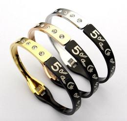 $enCountryForm.capitalKeyWord Australia - Promotion Brand Designer Bracelet For Women Ladies Titanium Steel Fashion Bracelet With 3 Colors Luxury Jewelry Bracelets Free Shipping