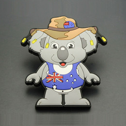 $enCountryForm.capitalKeyWord Australia - Cute Big Size Australia Koala Tourist Travel Souvenir 3D Rubber Fridge Magnet Decorative Refrigerator Magnet