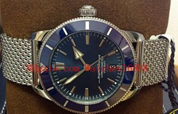 Watches superocean online shopping - New Style Mens Automatic Mechanical Watch Superocean Heritage II AB2030 Blue Dial UNWORN Stainless Steel Mens Sport Wrist Watches