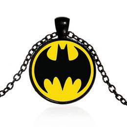 Batman Pendants Australia - Superhero Batman Necklace Batman Sign Round Glass Cabochon Necklaces Pendants Fashion Jewelry for Kids Gift 161028