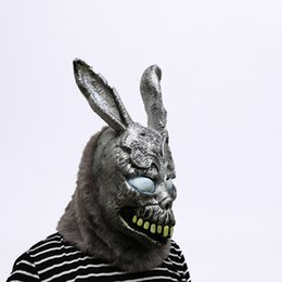 $enCountryForm.capitalKeyWord UK - New!!! Hot Sale Animal Cartoon Rabbit mask Donnie Darko FRANK the Bunny Costume Cosplay Halloween Party Maks Supplies