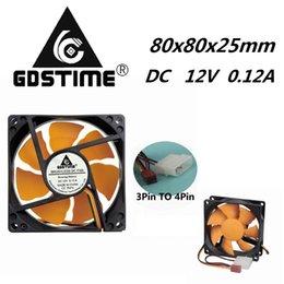 8cm Fan Cooler 3Pin//Dual Large 4Pin 80x80x25mm Computer Case Fan 12V CPU 8025