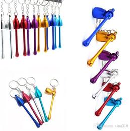 $enCountryForm.capitalKeyWord Australia - High Quality Metal Pipe Mushroom Keychain Key Chain Portable Long Mini Key Ring