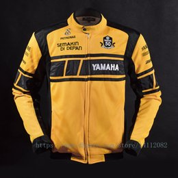 $enCountryForm.capitalKeyWord Australia - MOTOGP 50-year Anniversary Jacket for YAMAHA Racing Team Summer Motorcycle Mesh Breathable Jacket Coat with 5 Protective Gear