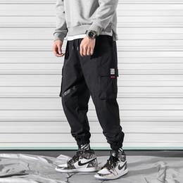 Black Cotton Elastic Ankle Pants Australia - Spring Cargo Pants Men Cotton Elastic Waist Multi-pocket Joggers Trousers Black Khaki Ankle Banded Male Casual Harem Pants