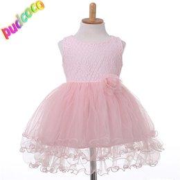 Discount cute little girls tutu dress - 2019 Kid Summer Dress Girl Lace Flower Cute Little Princess Dresses Children Girls' Clothing For Birthday Party Tul