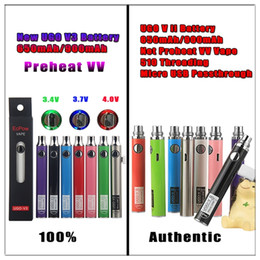 $enCountryForm.capitalKeyWord Australia - Evod Variable Voltage Vape Preheat VV UGO V3 USB Pass through Charger Batteries Kit 650 900mAh Ego 510 Thread for Empty Oil Carts