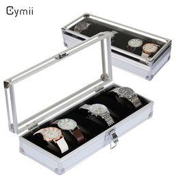 $enCountryForm.capitalKeyWord Australia - wholesale 6 Grid Insert Slots Watch Box Case Jewelry Watches Box Organizer for Rings Bracelet Display Holder Case