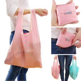 Discount green tote bags wholesale - 6 styles Fashion New Printing Shopping Bag Tote Bag Folding Foldable Green Purse Handbags Convenient Large Capacity Stor