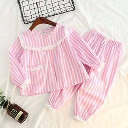 $enCountryForm.capitalKeyWord Australia - New 2pcs set Children Pajamas Baby Bay Girls Lace Sleepwear Long Sleeves Leisure Wear Kids Pajamas Girl Clothing Style 2-8 Yrs J190520