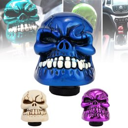 skull gear shift knobs Australia - Neverland Universal Manual Gear Stick Shifter Lever Knob Wicked Carved Resin Craft Skull Gear Shift Knob for Auto Car Blue D45