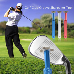 Cutter Sharpener Australia - V U Blade Cutters Head Golf Club Sharpener Groove Wedge Cleaner Regrooving Tool Cleaning Tool Golf Accessories Iron Grooves WS-12