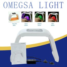 portable red light therapy UK - Korea Portable OMEGA LED Light Therapy PDT Facial Machine Red Blue Green Yellow 4 Color Light LED Facial Mask Acne Remover Photon Therapy