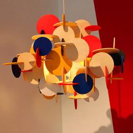 Kitchen Blocks Australia - LED Nordic creative personality Contemporary contracted living room bedroom restaurant Children room color Building Blocks droplight