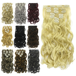 $enCountryForm.capitalKeyWord Australia - Ladies Hair Wefts 15 Colors Solid Hair Weaving High Hair Density Machine Double Weft Wavy Clip-on Extension Heat Resistant Kinky Curly Wefts