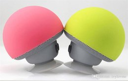 Portable Tablet Stand NZ - BT280 Mini Mushroom Speakers Subwoofers Bluetooth Wireless Speaker Silicone Suction Cup Cell Phone Tablet PC Stand Free Shipping