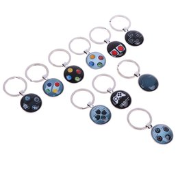 glow sun glasses NZ - Video Game Controller Photo Keychain jewelry Glass Cabochon Dome keychain