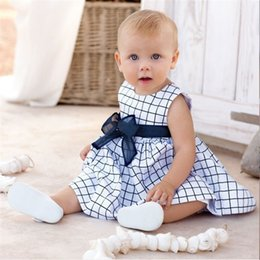 $enCountryForm.capitalKeyWord Australia - Summer kids clothes 6M-3Y baby girls Sleeveless checked dresses Princess skirt kids designer clothes girls JY587