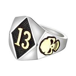 13 Rings Australia - Factory Direct Selling Classic, Hot Selling 13 Skeleton Head Foreign Trade Men's Ring