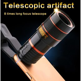 Wholesale Clip on Cell Mobile Phone Lens Zoom Window funny photography HD Camera for x more Telescope Optical Enjoy Android Phone General