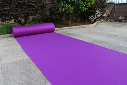 Fabric Decorations For Parties Australia - 20 Meters roll purple Wedding Theme Fabric Carpet Aisle Runner For Wedding Backdrop Centerpieces Favors party decoration free shipping