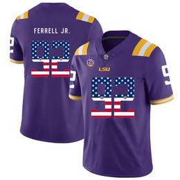 bcdb186d6ed Mens Custom Neil Ferrell Jr Football Jersey LSU Tigers USA Flag Fashion  High Quality Stitched College American Football Jerseys