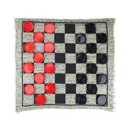 Chinese  2019 Hot Suitable For Outdoor Indoor Activity Giant 3-in-1 Checkers Track Road Funny Game Kids Adults Nordic Quilt Blanket manufacturers