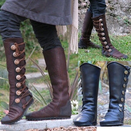 Faux Fur Booties Women Australia - feminino women boots knee high vintage flats shoes woman luxury PU leather cross-tied gladiator booties chaussure ghn569