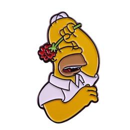 Discount grip pins - My secret shame lapel pin cute shy grip rose brooch cartoon meme badge pop culture decor 90s gifts