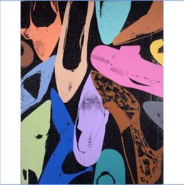 $enCountryForm.capitalKeyWord NZ - Andy Warhol Diamond Dust Shoes High Quality Handpainted & HD Print Modern Abstract Art Oil Painting On Canvas Home Deco Wall Art g310