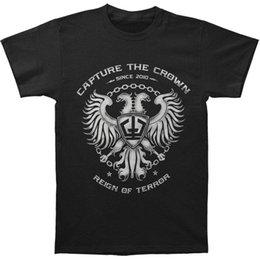 Sale Arm Sleeve Australia - Capture The Crown Men's Coat Of Arms T-shirt Large Black Fashion Mens Short Sleeve Cheap Sale O Neck T-Shirt Free Shipping