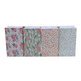 $enCountryForm.capitalKeyWord Australia - 1 Pack Floral Folded Pocket Paper Gift Bags Flowers Craft Paper Candy Gift Bag With Sticker For Christmas Wedding Party Favors