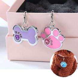 $enCountryForm.capitalKeyWord Australia - 15 Styles Dog Tags Engraved Cat Puppy Pet ID Name Collar Tag Pendant Pet Accessories Bone Glitter
