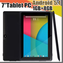 $enCountryForm.capitalKeyWord Australia - 20X 7 inch Capacitive Allwinner A33 Quad Core Android 5.1 dual camera Tablet PC Upgrade 8GB 1GB WiFi EPAD Youtube Facebook Google A-7PB