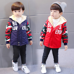 $enCountryForm.capitalKeyWord Australia - BibiCola New Hot Sale Baby Boys Hooded Jacket Autumn Winter Warm Outwear Infant Kids Letter Print Fashion Parkas For Boy