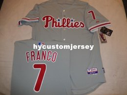 $enCountryForm.capitalKeyWord Australia - Cheap custom Majestic Philadelphia #7 MAIKEL FRANCO Top Game Jersey GRAY New Mens stitched jerseys Big And Tall SIZE XS-6XL For sale
