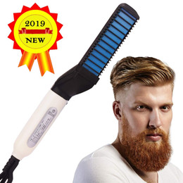 $enCountryForm.capitalKeyWord Australia - Electric Beard Straightener for Men - beard iron- Professional Quick Styling Comb for Ceramic Ionic Heating Portable Brush with Anti-Scald