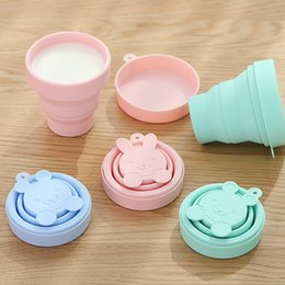 Mug foods online shopping - Children Cartoon Food Grade Silicone Water Mug New Classical Portable Outdoor Travel Telescopic Cup High Quality la Ww