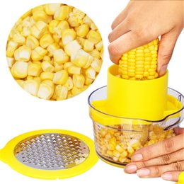 Kitchen tools corn stripper online shopping - Corn Stripper Shucker Corn Kernel Remover Ginger Grater Niblet Separator Stripping Tool Vegetable Sheller Kitchen Peeler JK1911