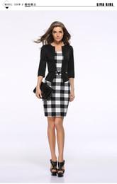 $enCountryForm.capitalKeyWord NZ - High quality European and American autumn and winter fake two-piece professional female bag hip belt pencil dress