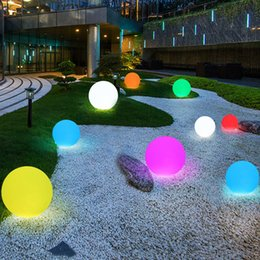 $enCountryForm.capitalKeyWord Australia - New Waterproof Led illuminated Swimming Pool Floating light ball With Remote Outdoor Garden Landscape Lawn RGB Glowing Ball Light