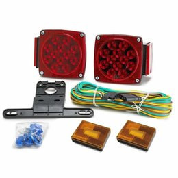 """12v Tail Lights Australia - 12V LED Submersible Trailer Combination Stop Turn Tail Light Kit-Ideal For Towing Applications Up to 80"""" Wide Such As Motorcycle"""