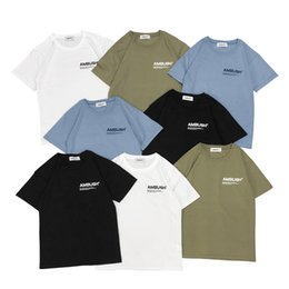 quality basics NZ - designer brand AMBUSH basic models short-sleeved T-shirt best quality men and women TEE shirt simple letters printed INS ultra fire 4 color