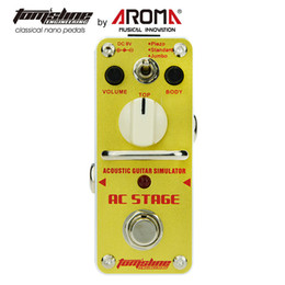Acoustic Pedal Australia - AROMA AMX-3 MATCHBOX D.I. Transfer Guitar Bass Signal Audio System Mini Analogue Effect pedalsAroma AAS-3 Acoustic Guitar Effect Pedal Simul