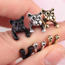 84095f1800ef Personalized Cute Animal Dog Opening Ring Adjustable Alloy Hippie Chic  Retro Rings For Women Girls Jewelry Gold Silver Color