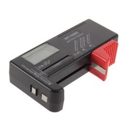 Battery Tester Bt UK - BT-168D Portable Digital Battery Tester Black Digital Battery Power Measuring Instrument The Function Battery Tester