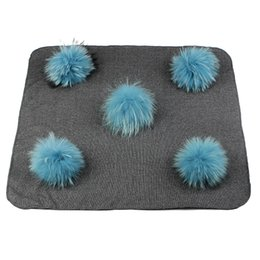 real beds NZ - Newborn Warm Cotton Swaddling Blanket Travel Solid Color Sleeping Blanket with Real Fur Pompom Kids Baby Bedding Swaddles Wrap