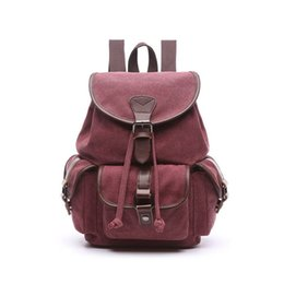 6404d697b8 New 2019 Women Drawstring Canvas Mountaineer Backpack Travel Bag Men  Multifunctional Causal Backpacks Shoulder Bags An962