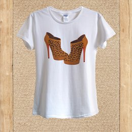 Discount white leopard print high heels - Leopard Print High Heels T-shirt 100% mens pride dark t-shirt white black grey red trousers tshirt suit hat pink t-shir